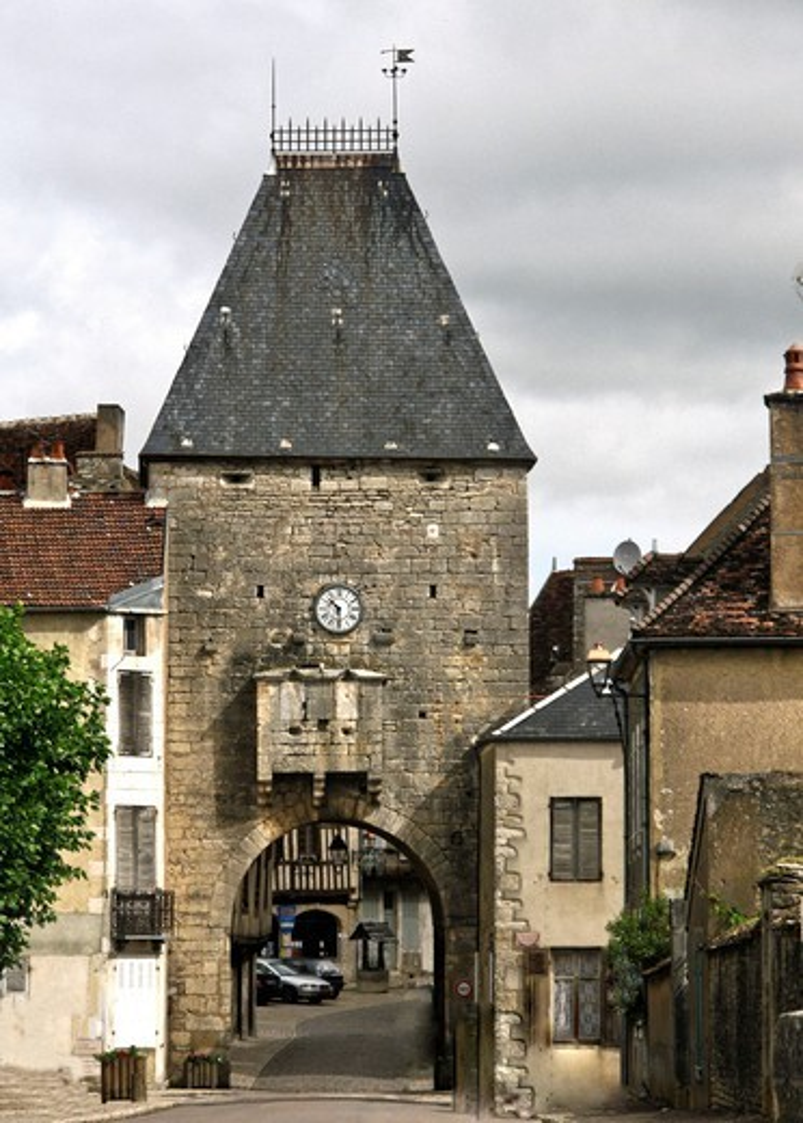 France, Noyers Sur Serein, City Door : Stock Photo
