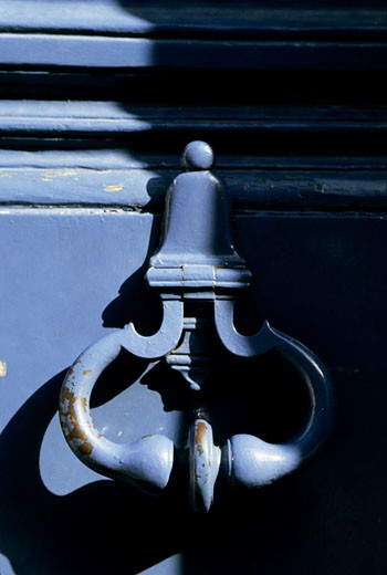 France, Paris, door knocker, close-up : Stock Photo