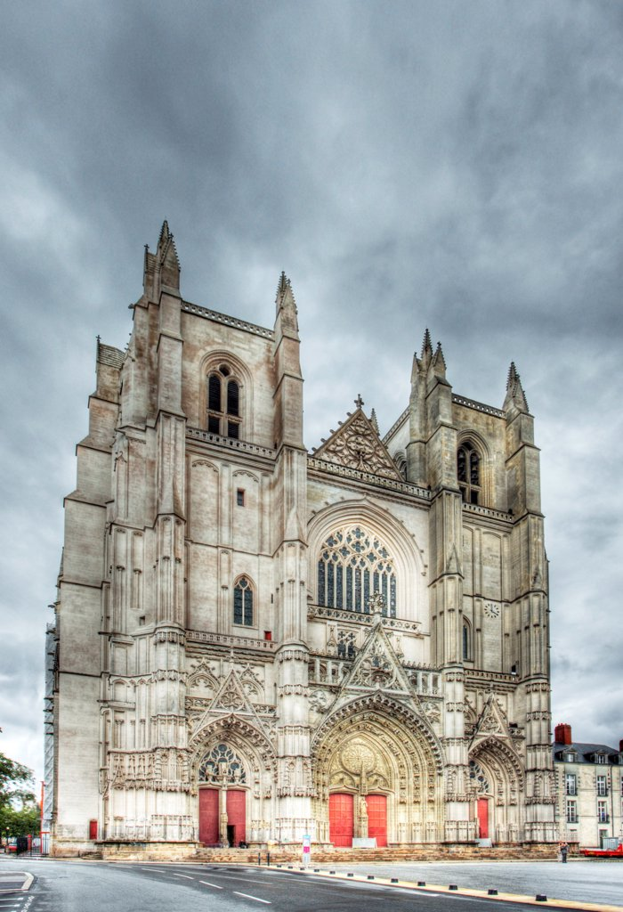 France, Loire Atlantique, Nantes, Cathedral Of St. Pierre And St. Paul : Stock Photo