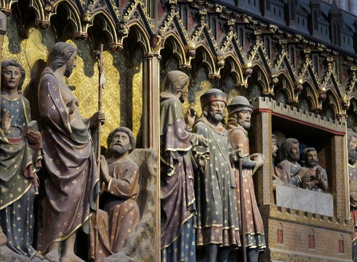 France, Paris, 4Th District, Inside The Cathedral Of Notre-Dame : Stock Photo