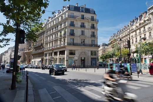 Stock Photo: 1606-194153 France, Paris, Crossroad (3Rd Arr)
