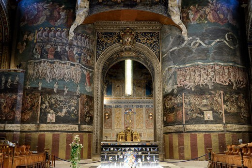 Stock Photo: 1606-195349 France, Tarn, Albi, The Episcopal City, Listed As World Heritage By Unesco, St Cecile Cathedral, The Last Judgement