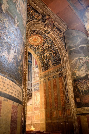 France, Albi, Cathedral Sainte Cecile, The Last Judgement : Stock Photo