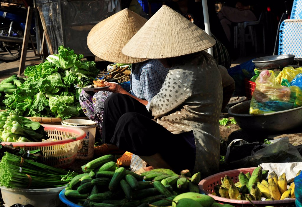 Stock Photo: 1606-195968 Fruit Market In Cantho  In Mekong Delta, South Vietnam, Vietnam, South East Asia, Asia
