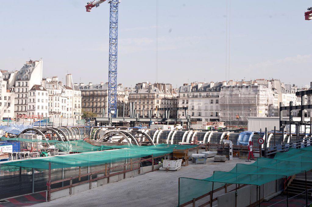 Stock Photo: 1606-196536 France, Paris, Renovating Site (Forum Des Halles)