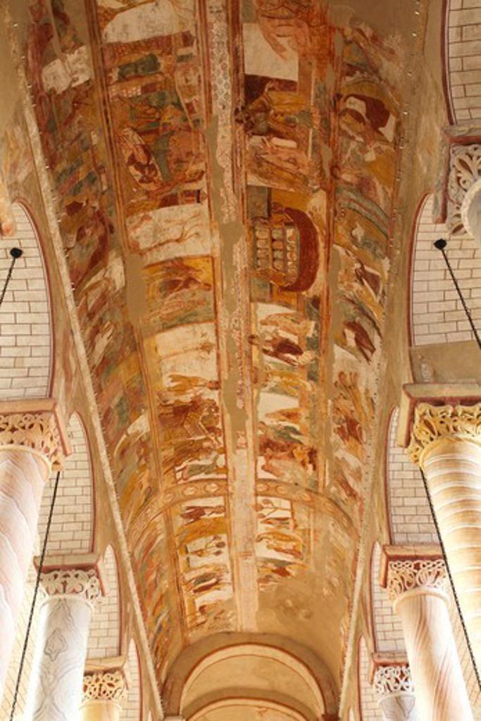 Stock Photo: 1606-197242 France, Poitou-Charentes, Vienne (86), Saint Savin Abbey Church (Unesco World Heritage)