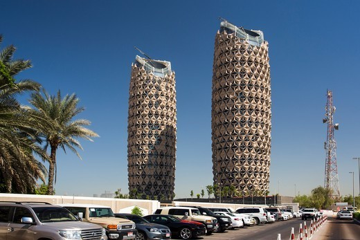 Stock Photo: 1606-197874 United Arab Emirates (Uae), Abu Dahbi City, Apartments Bldgs. Near Abu Dhabi University