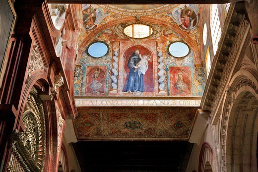 Stock Photo: 1606-198479 Spain, Andalusia, Cordoba City, Great Catholic Cathedral Of Córdoba, Religious Mural Painting