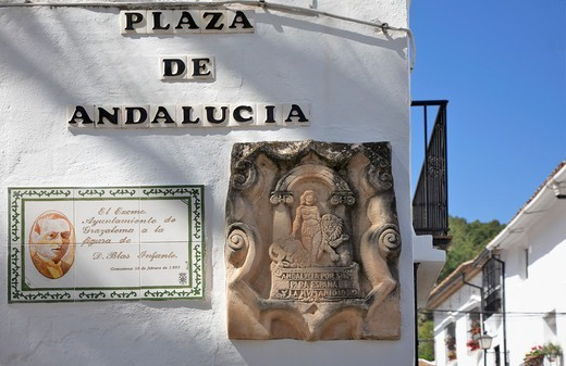 Spain, Andalusia, Grazalema Village, White Town : Stock Photo