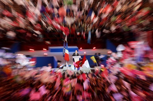 Stock Photo: 1606-198666 2012 French Presidential Election Campaign Paris. France.