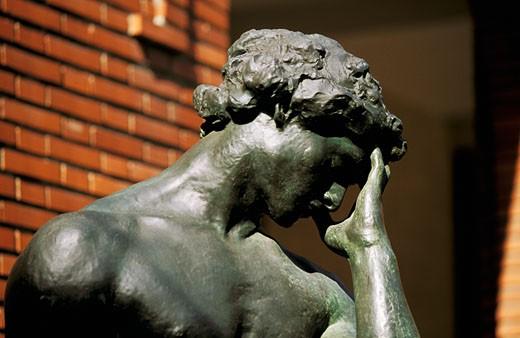 France, Paris, Bourdelle museum, statue : Stock Photo