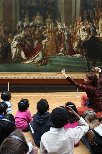Stock Photo: 1606-198745 Children At The Louvre Museum Paris. France.