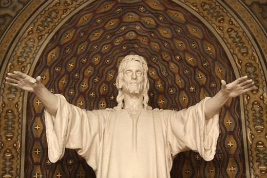 Stock Photo: 1606-198902 Christ Sculpture Paris. France.
