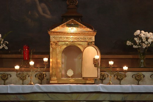 Stock Photo: 1606-199001 Church Of Saint Elisabeth Of Hungary. Chapel With Holy Sacrament. Paris. France.