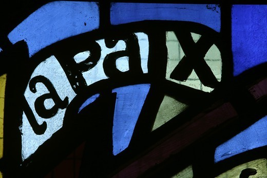 Stained Glass, Peace Paris. France. : Stock Photo
