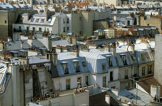 France, Paris, St Germains des Prés, roofs : Stock Photo