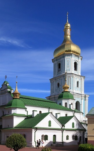 Stock Photo: 1606-199520 Ukraine, Kiev, Kyiv, St Sophia'S Cathedral, Bell Tower,