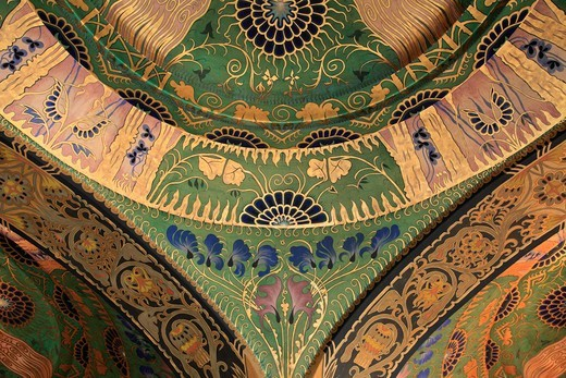 Stock Photo: 1606-199681 Romania, Targu Mures, Culture Palace, Interior, Painted Ceiling,