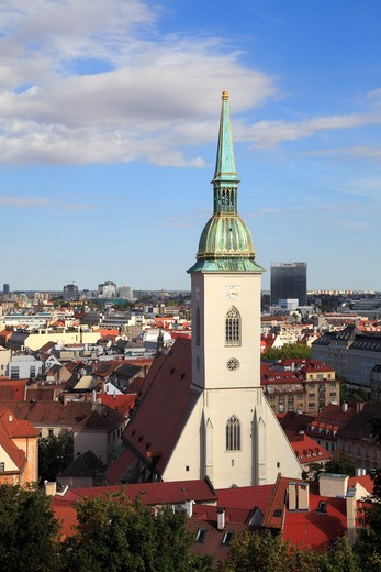 Slovakia, Bratislava, St Martin'S Cathedral, Skyline, General View, : Stock Photo