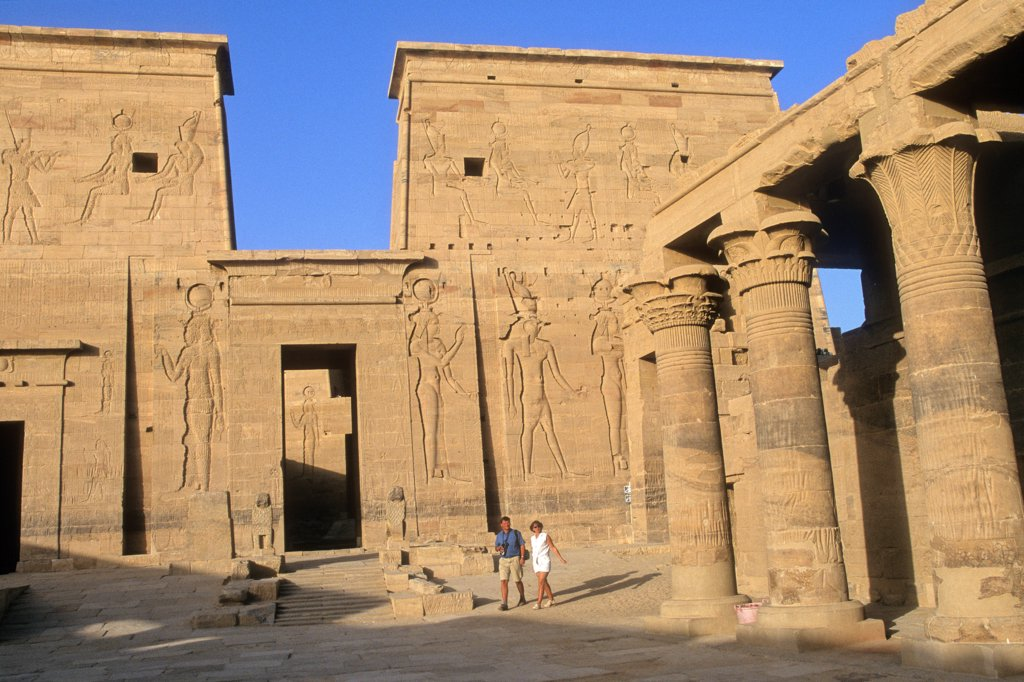 Stock Photo: 1606-199983 Egypt, Hight Nile Valley, Aswan, Philea Temple, (Unesco World Heritage)