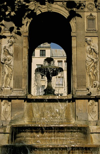 Stock Photo: 1606-20020 France, Paris, Innocents fountain, close-up