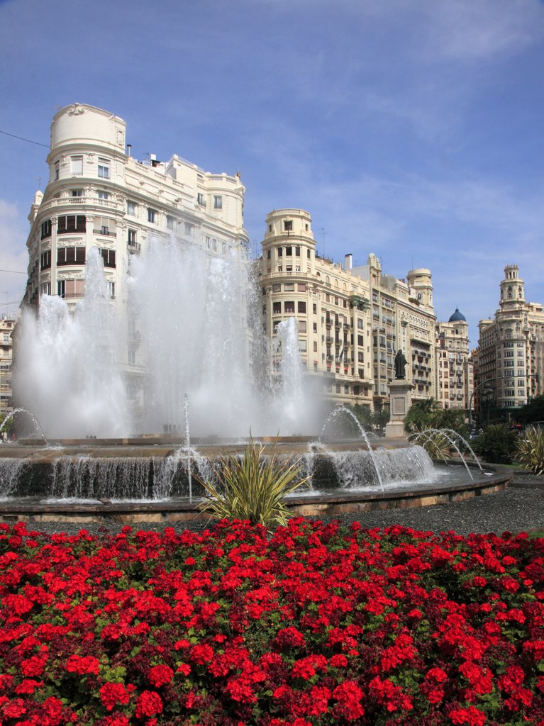 Stock Photo: 1606-200247 Spain, Valencia, Plaza Del Ayuntamiento,