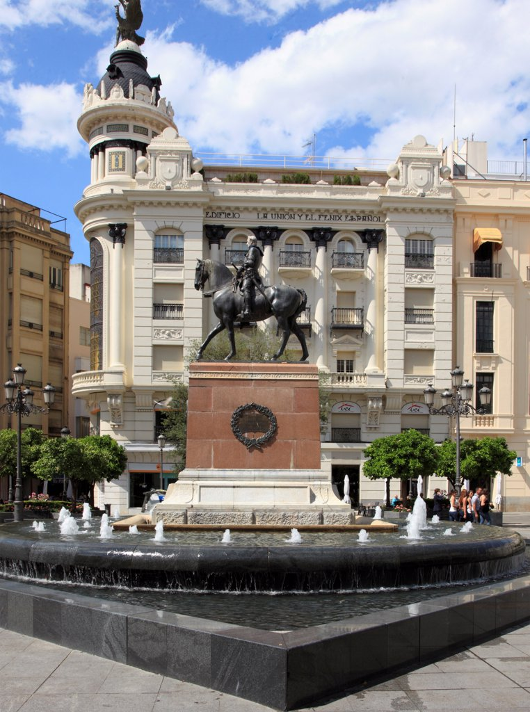 Stock Photo: 1606-200510 Spain, Andalusia, Cordoba,  Plaza De Las Tendillas,