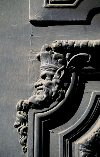 France, Paris, Archives Nationales, door, detail : Stock Photo
