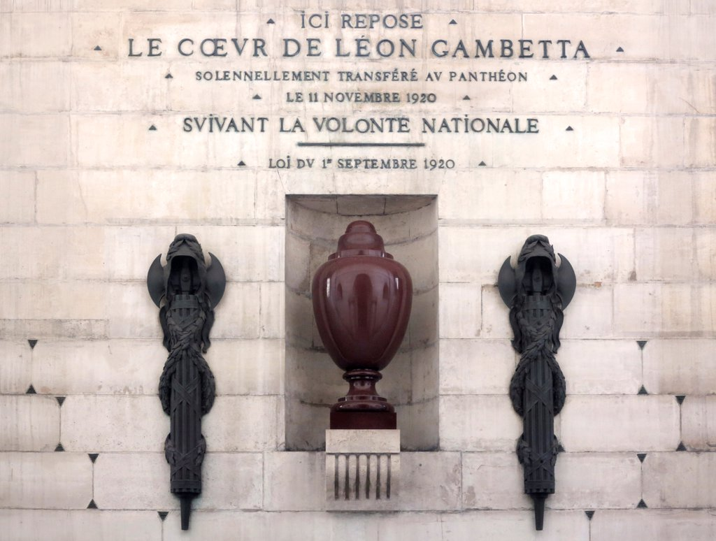 France, Paris, 5Th Arr., Pantheon Urn Containing The Heart Of Gambetta : Stock Photo