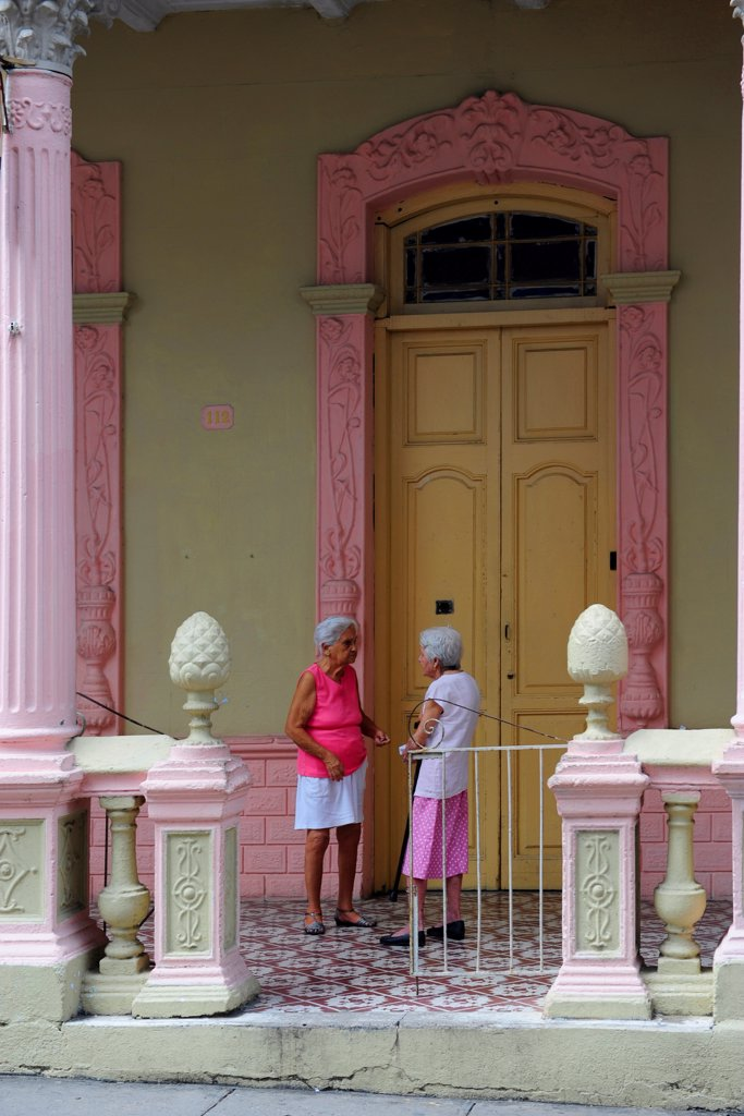 Stock Photo: 1606-201844 Two Old Womens In Pinar Del Rio, Cuba