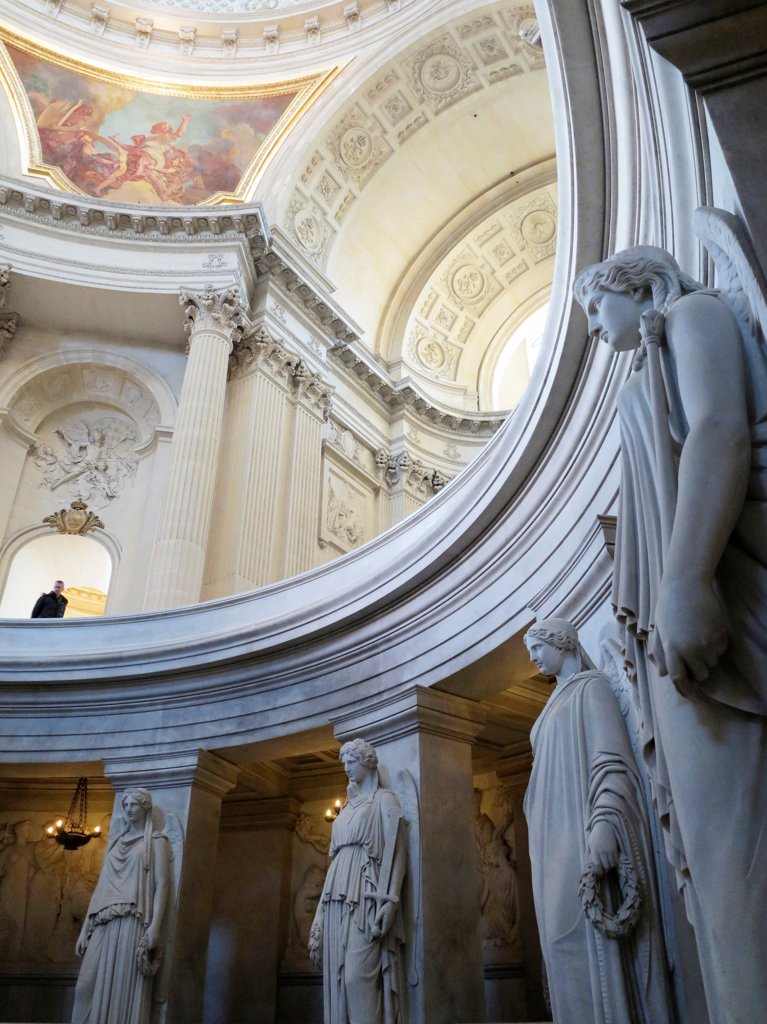 Stock Photo: 1606-201938 France, Paris, 7Th, Hotel Des Invalides, Tomb Of Napoleon, Ornamental Statues