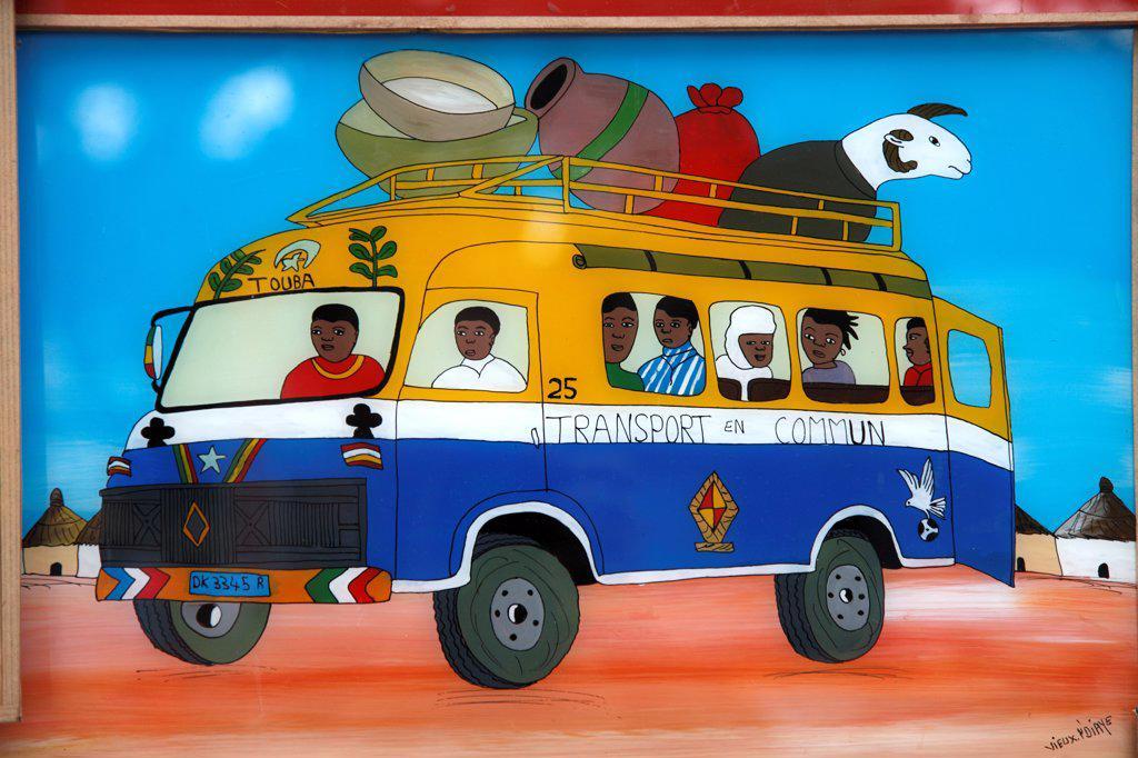 Stock Photo: 1606-202485 Senegal, Dakar, Paint On Glass