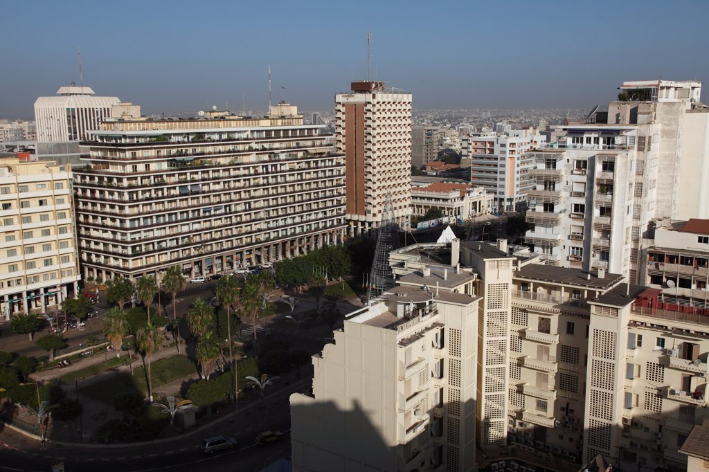 Senegal, Dakar, Independance Square : Stock Photo