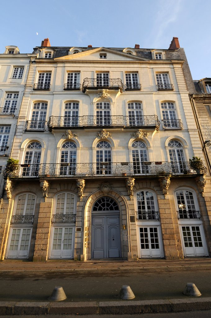Stock Photo: 1606-202860 France, Pays De La Loire, Loire-Atlantique, Nantes, Shipowner Old Mansion On Ile Feydeau.