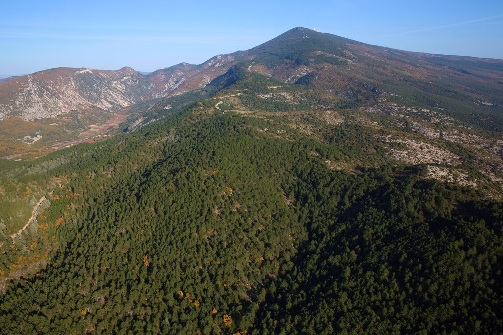 Stock Photo: 1606-202910 France, Vaucluse (84), Mont Ventoux, Culminating At 1911 Meters, It Is Classified As A Biosphere Reserve By Unesco And Natura 2000 Site (Aerial Photo)