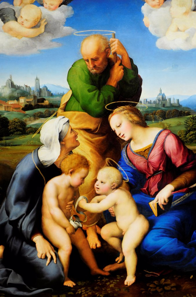 The 'Canigiani Holy Family' By Raphaël, Alte Pinakothec In Munich, Germany : Stock Photo