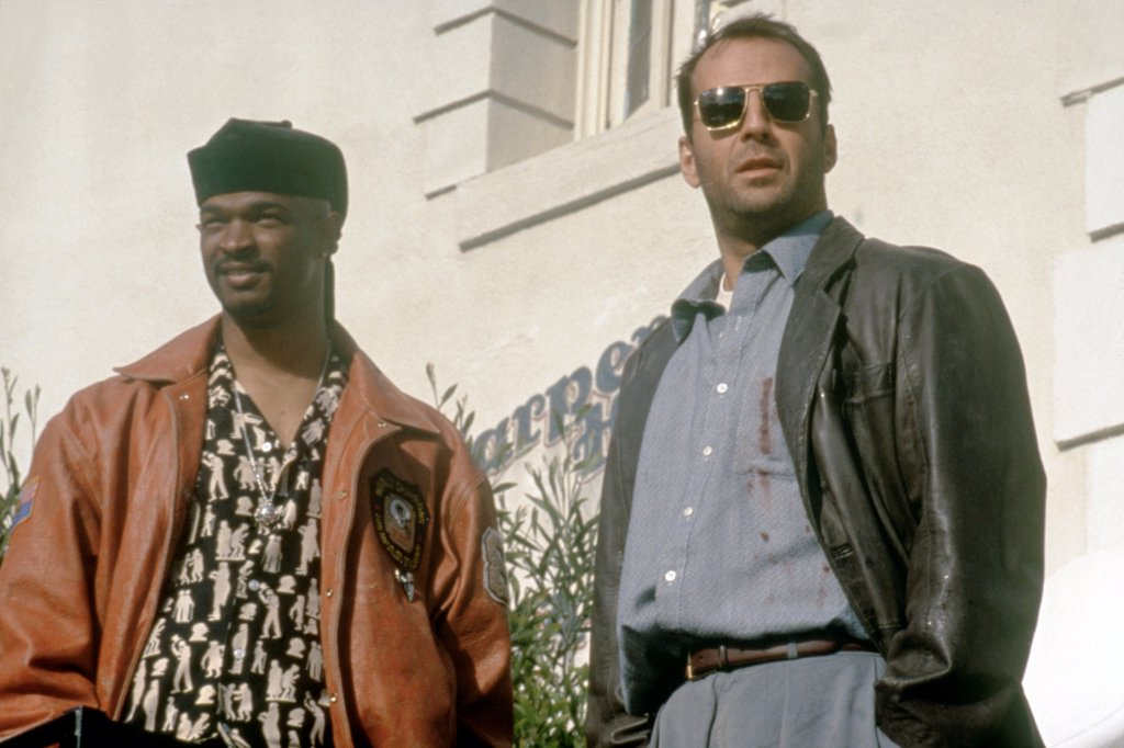 Stock Photo: 1606-203633 Damon Wayans and Bruce Willis, The Last Boy Scout, 1993 directed by Tony Scott (Warner Bros. Pictures)