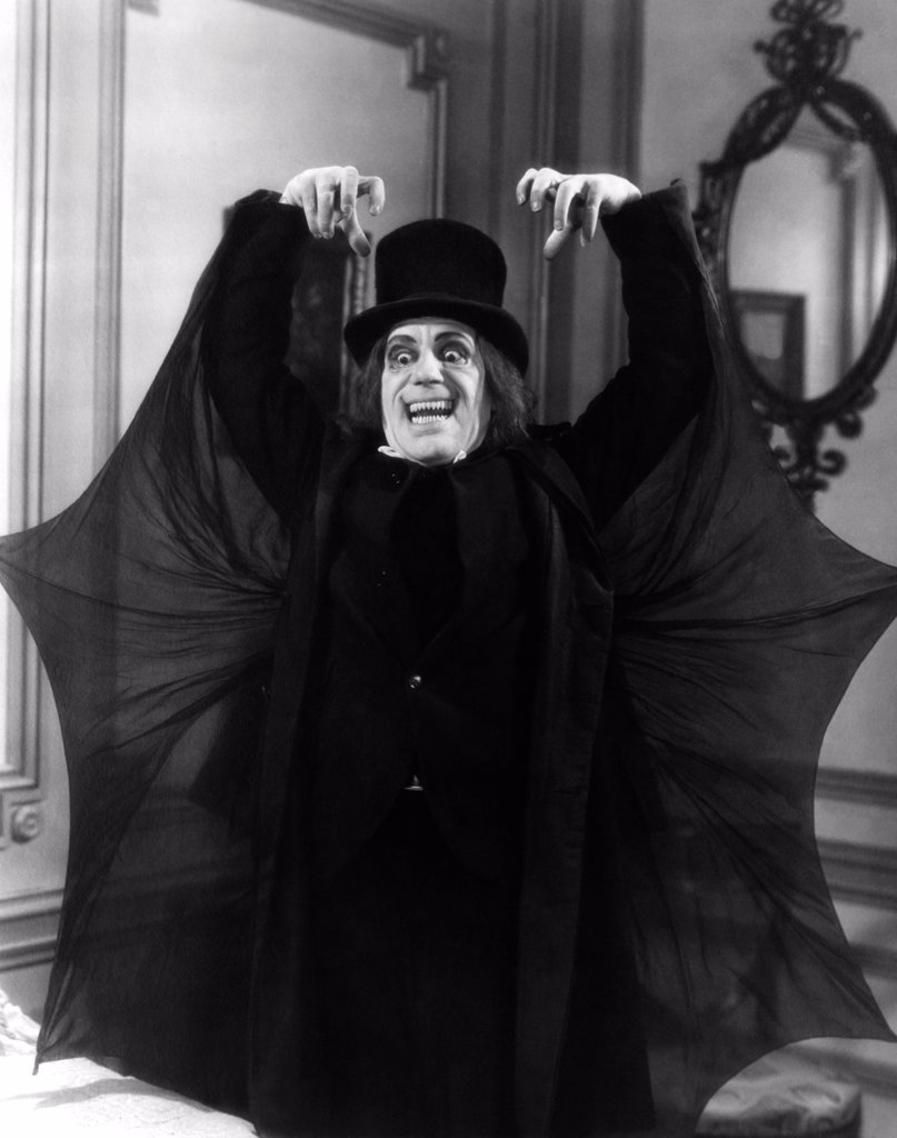 Lon Chaney, London After Midnight, 1927 directed by (Metro-Goldwyn-Mayer Pictures) : Stock Photo