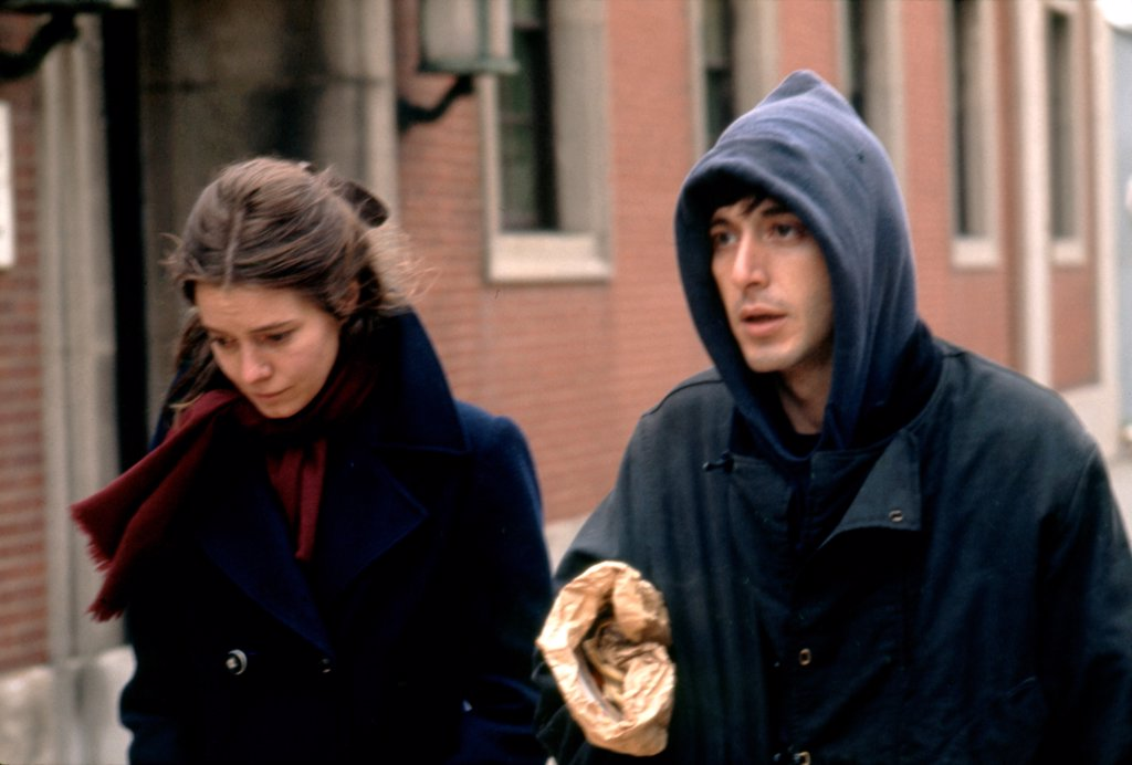 Stock Photo: 1606-203737 Kitty Winn and Al Pacino, The Panic in Needle Park, 1971 directed by Jerry Schatzberg (Twentieth Century Fox Film Corpo)