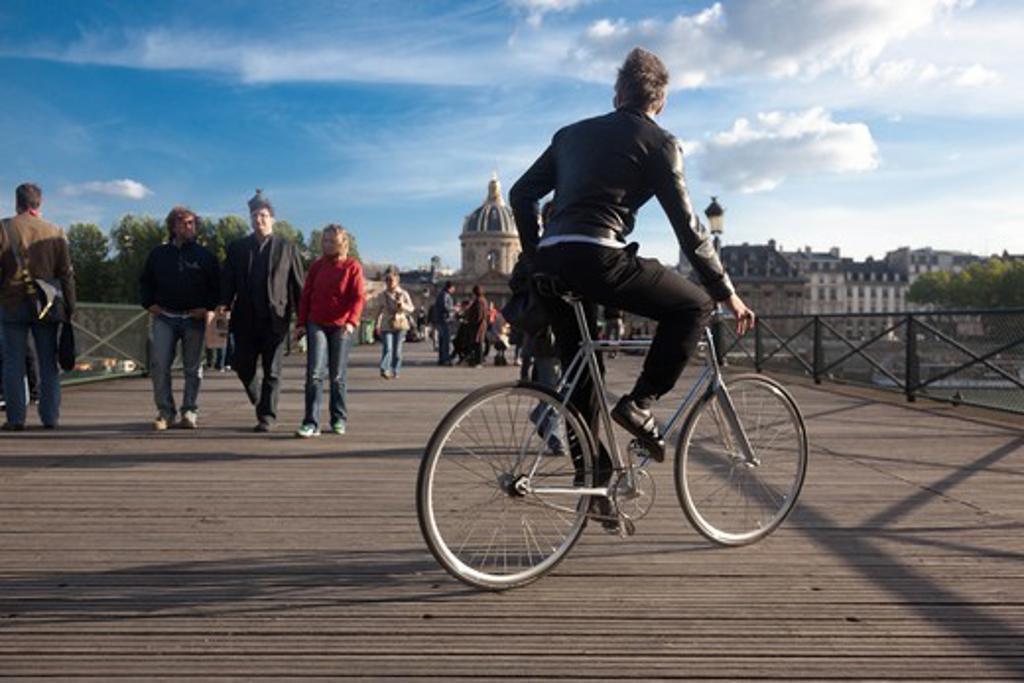 Stock Photo: 1606-204415 France, Paris, 1st district, Pont des Arts