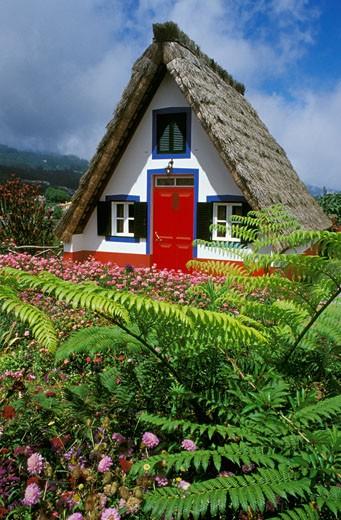 Stock Photo: 1606-20725 Madeira, Santana, typical house