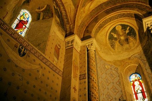 France, Rhône-Alpes, Isère, Saint Chef, abbey church : Stock Photo
