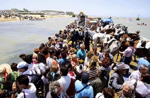 Stock Photo: 1606-23276 Spain, Andalusia, El Rocio pilgrimage