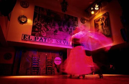 Spain, Andalusia, Sevilla, flamenco show : Stock Photo