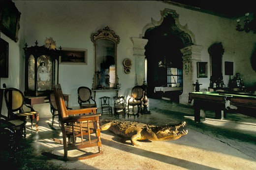 Stock Photo: 1606-27856 Cuba, Trinidad, 518 calle Simon Bolivar, inside living room of crocodile house (Casa del Dominicano)