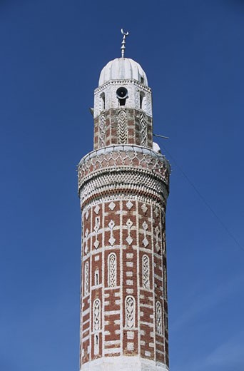 Yemen, Ibb, minaret : Stock Photo