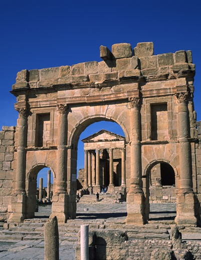 Stock Photo: 1606-29905 Tunisia, Sbeitla, Roman ruins, forum