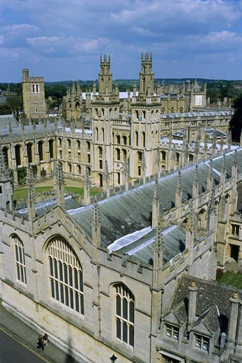 U.K., England, Oxford, All Souls College : Stock Photo
