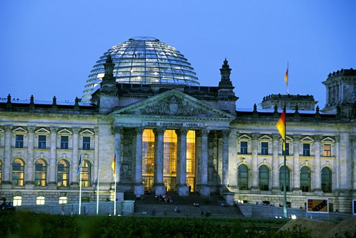 Stock Photo: 1606-30364 Germany, Berlin, Reichstag, Parliament