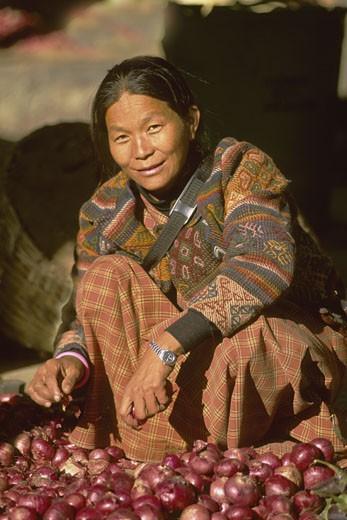 Bhutan, Thimphu, market : Stock Photo